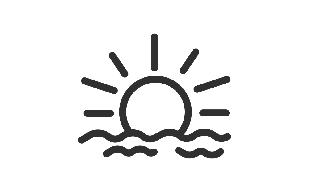 Icon of sun over water, MAT Program